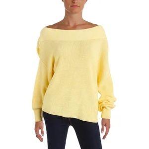 Free People Alana Sweater Linen Heathered Yellow